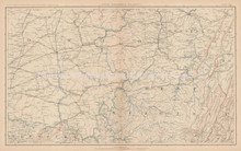 Pennsylvania Maryland Civil War Antique Map 1895 circa