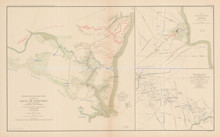 Yorktown Virginia Shiloh Civil War Antique Map 1895 circa