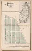 Brighton Land Association New Jersey Antique Map Woolman & Rose 1878