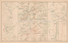 Mine Run Campaign Atlanta Civil War Antique Map 1895 circa