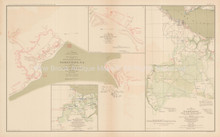Yorktown Virginia Civil War Antique Map 1895 circa
