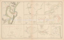 New Madrid Manassas Civil War Antique Map 1895 circa