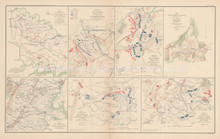 Peninsular Campaign Cedar Mountain Civil War Antique Map 1895 circa