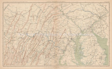 New Jersey Pennsylvania Civil War Antique Map 1895 circa