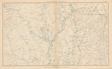 Mississippi Tennessee Civil War Antique Map 1895 circa