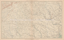 North Carolina South Carolina Georgia Civil War Antique Map 1895 circa