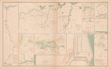 Price's Expedition Appomattox Civil War Antique Map 1895 circa