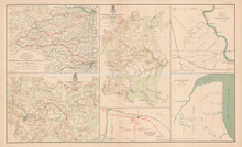 Appomattox Campaign Pittsburg Civil War Antique Map 1895 circa