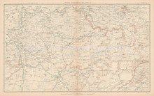 Kentucky Tennessee Civil War Antique Map 1895 circa
