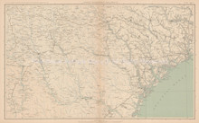 South Carolina Georgia Civil War Antique Map 1895 circa