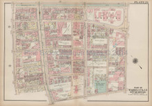 Sheridan Square Harrison Avenue Boston Antique Map Bromley 1922