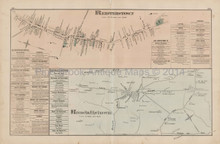 Reisterstown Randallstown Maryland Antique Map Hopkins 1877