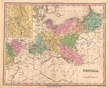 Prussia Antique Map Tanner 1836