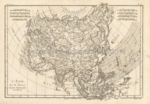 Asia Antique Map Bonne 1780