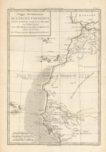 Morocco Mauritania Africa Antique Map Bonne 1780