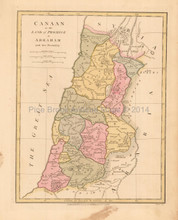 Canaan Abraham Antique Map Wilkinson 1815