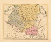 Ancient Eastern Europe Antique Map Wilkinson 1815
