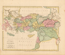 Ancient Greece Turkey  Antique Map Wilkinson 1815
