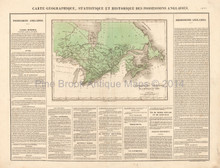 British Canada Antique Map Buchon 1825