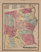 Westminster Vermont Antique Map Beers 1869