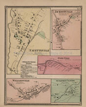 Fayetteville Jacksonville Vermont Antique Map Beers 1869