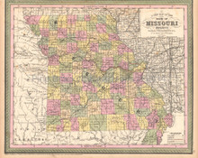 Missouri Antique Map DeSilver 1855