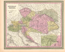 Austrian Empire Antique Map DeSilver 1855