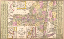 New York Antique Map DeSilver 1855