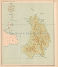 Catanduanes Philippine Islands Antique Map Algue 1899