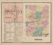 Augusta New York Antique Map Beers 1874