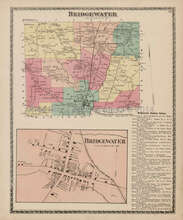Bridgewater New York Antique Map Beers 1874