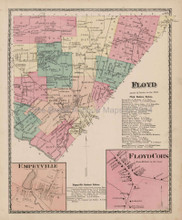 Floyd New York Antique Map Beers 1874