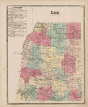 Lee New York Antique Map Beers 1874