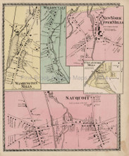 Washington Mills Sauquoit New York Antique Map Beers 1874