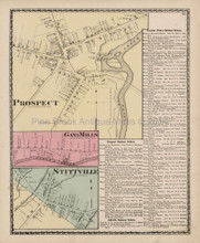 Prospect Stittville New York Antique Map Beers 1874