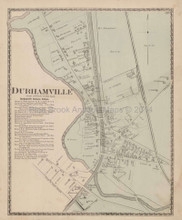 Durhamville New York Antique Map Beers 1874