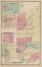 Forest Port New York Antique Map Beers 1874