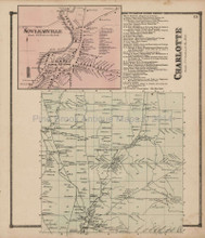 Charlotte Sinclearville New York Antique Map Stewart 1867