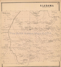 Alabama New York Antique Map Beers 1866