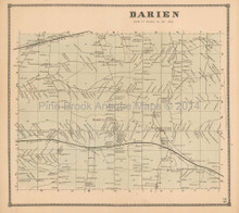 Darien New York Antique Map Beers 1866