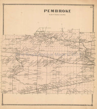 Pembroke New York Antique Map Beers 1866