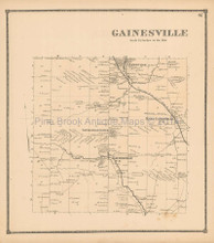 Gainesville New York Antique Map Beers 1866