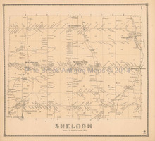 Sheldon New York Antique Map Beers 1866