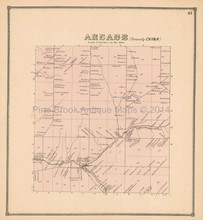 Arcade New York Antique Map Beers 1866