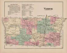 Varick New York Antique Map Nichols 1874