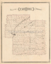 Carroll County Chauncey Delphi Indiana Antique Map Baskin 1876