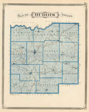 Dubois Harrison County Indiana Antique Map Baskin 1876