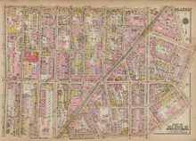 Melrose Longwood Bronx Antique Map New York City Bromley 1921