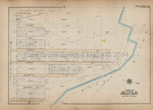 Longfellow Farragut Bronx Antique Map New York City Bromley 1921