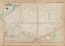 Bronx River Bronx Antique Map New York City Bromley 1921